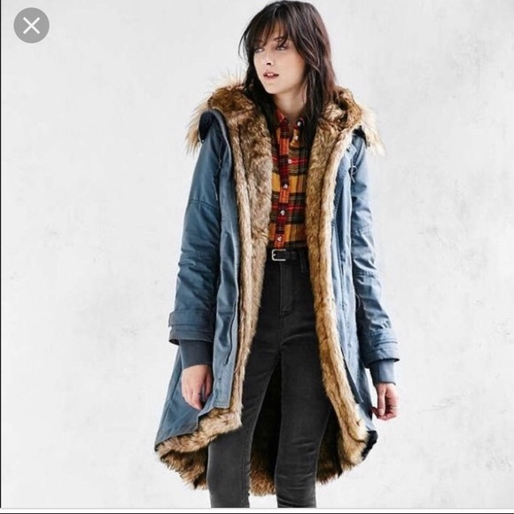 Urban Outfitters Jackets & Blazers - Authentic members only faux fur lined parka xs